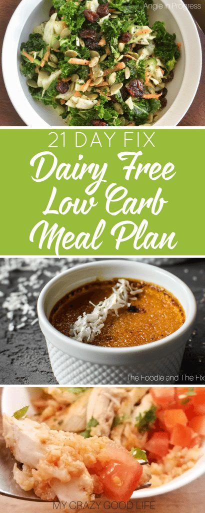 I'm always on the hunt for great 21 Day Fix dairy free low carb meal plan options. Meal prep and planning is amustfor me. I've turned the 21 Day Fix into a permanent healthy lifestyle choice so I need to be prepared. 21 Day Fix Low Carb Meal Plan | 21 Day Fix Dairy Free Meal Plan | 21 Day Fix Meal Plan | 21 Day Fix