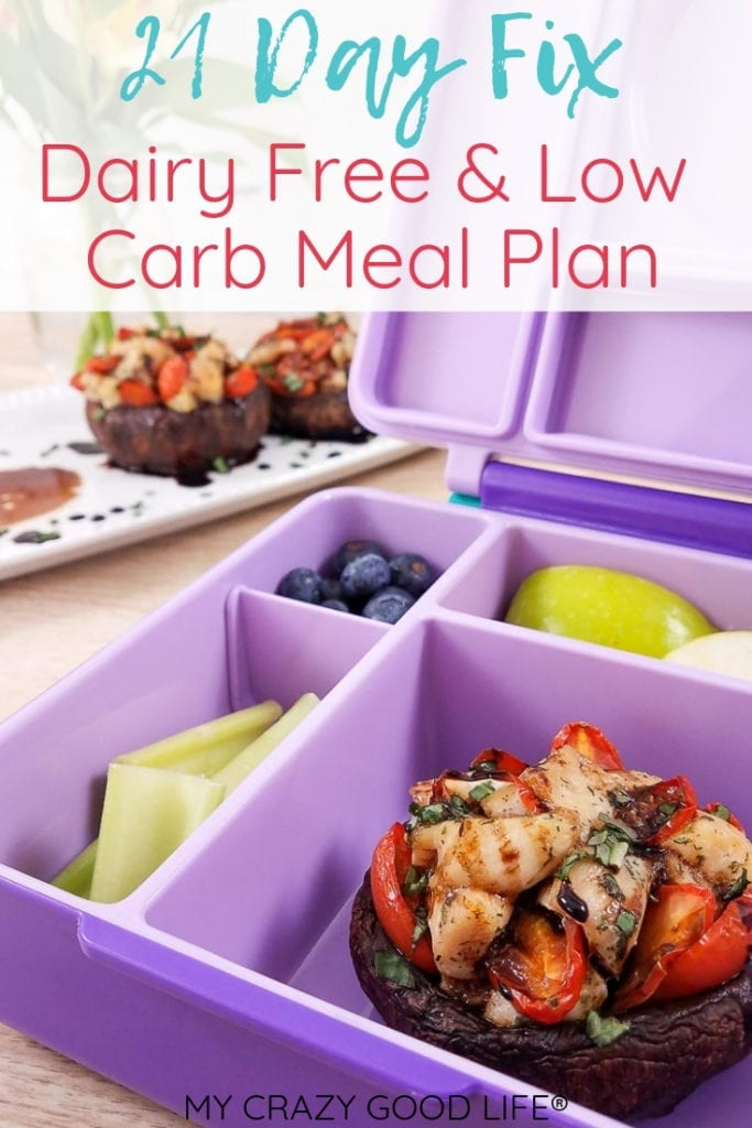 I'm always on the hunt for great 21 Day Fix dairy free low carb meal plan options. Meal prep and planning is a must for me. I've turned the 21 Day Fix into a permanent healthy lifestyle choice so I need to be prepared. 21 Day Fix Low Carb Meal Plan | 21 Day Fix Dairy Free Meal Plan | 21 Day Fix Meal Plan | 21 Day Fix