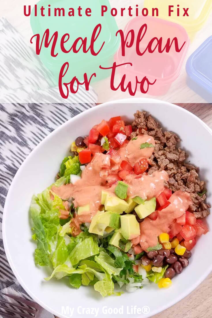 This Ultimate Portion Fix meal plan for two is perfect if you are cooking for yourself or just for two. I've pulled the easiest to freeze and portion recipes to help you reach your Ultimate Portion Fix goals. Freezer Meals | Easy Meals | Healthy Dinners | UPF Meal Plan | Beachbody Meal Plan