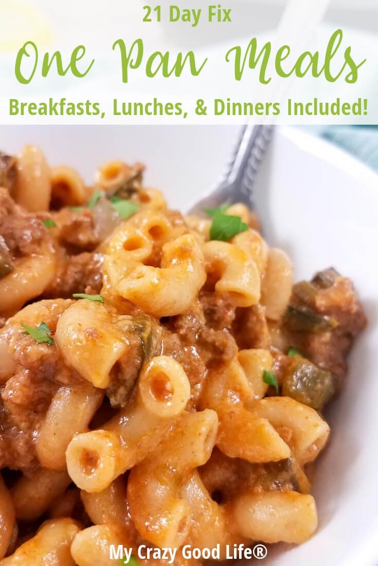 image with text of healthy hamburger helper recipes