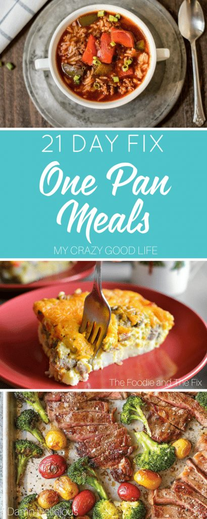 These 21 Day Fix one pan meals mean less clean up, more time spent doing fun stuff, and a healthy meal the whole family will love. It's truly the perfect scenario, at least in my world! 21 Day Fix One Pan Meals | One Pan Meals | 21 Day Fix Meals | 21 Day Fix Easy Meals