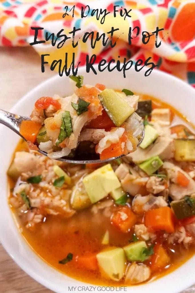These 21 Day Fix Instant Pot fall recipes meal plan ideas will help you stay on track through this fall casserole, soup, and stew season! 21 Day Fix Fall Recipes | Instant Pot Dinner recipes | Fall Breakfast Recipes | Fall Meal Plan | 21 Day Fix Soups | 21 Day Fix Stews | 21 Day Fix Casseroles #21dayfix #healthy #instantpot #fall