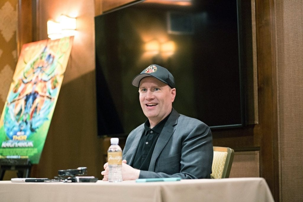 We sat down with Kevin Feige to chat about Thor: Ragnarok, what bloggers do, and a female superhero movie. Here's what he had to say.