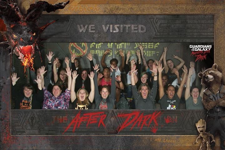 Guardians of the Galaxy Mission: Breakout came alive for Monsters After Dark! The ride queue was a little different, as was a new punk rock song during the ride!