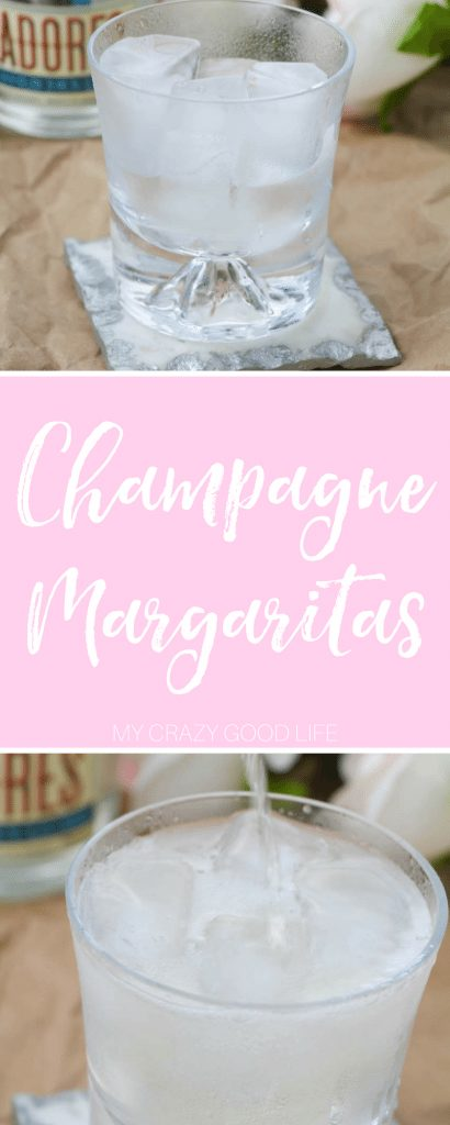 When I want something light, delicious, and a little more sophisticated I go for this champagne margaritas recipe! It's bubbly and festive! Champagne Margaritas | Champagne Margarita Recipes | Margarita Recipes with Champagne | Champagne Cocktails | Holiday Margarita Recipes