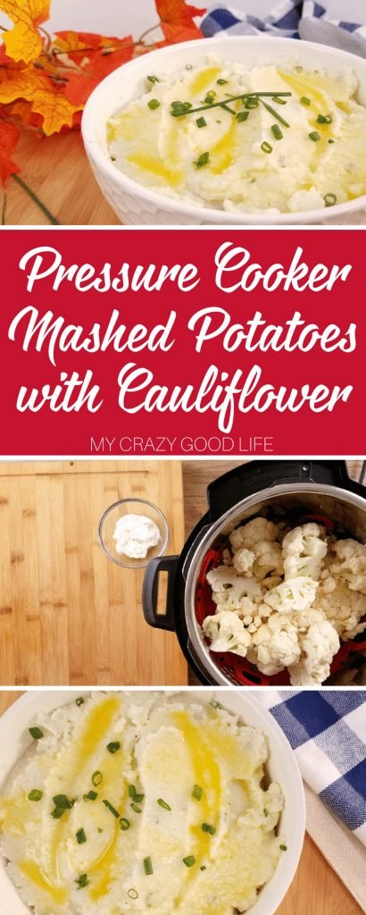 We are heading into the holiday season and my family will want to see classics like these pressure cooker mashed potatoes with cauliflower on the menu. Thanksgiving Pressure Cooker Recipe| Thanksgiving Recipe | Mashed Cauliflower | Thanksgiving instant Pot Recipe