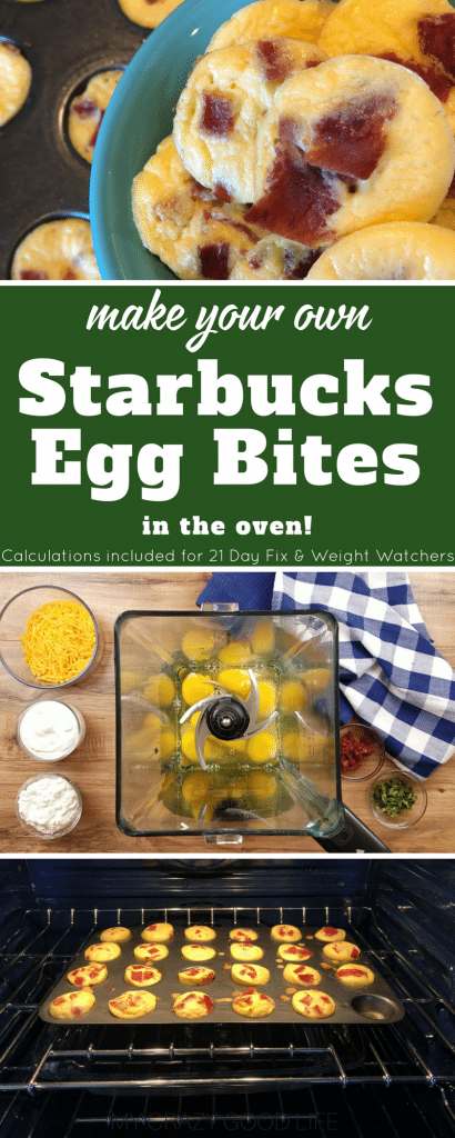 These copycat Starbucks Egg Bites are so delicious and easy to make in the oven! Save a ton of money by making Starbucks egg bites at home. Starbucks Egg Bites | Starbucks Egg Bites Recipe | Sous Vide Egg Bites | Weight Watchers Egg Bites | 21 Day Fix Egg Bites