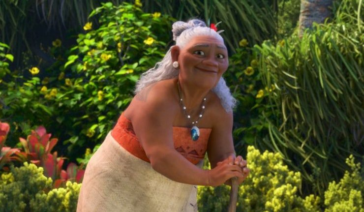 Rachel House as the voice of Grandma in Moana