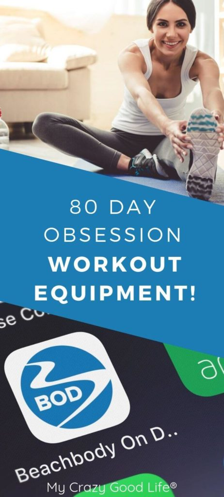 Pin with title that shows workout gear, Beachbody theme, and title in the middle.