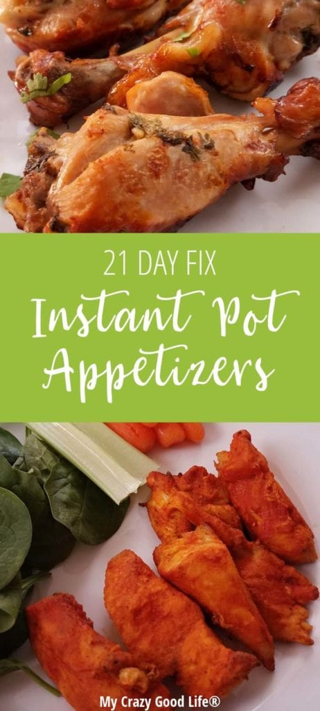 I put together some great 21 Day Fix Instant Pot appetizers to make it easier to plan for snacks, parties, and events. These amazing healthy appetizers are great for the whole family!