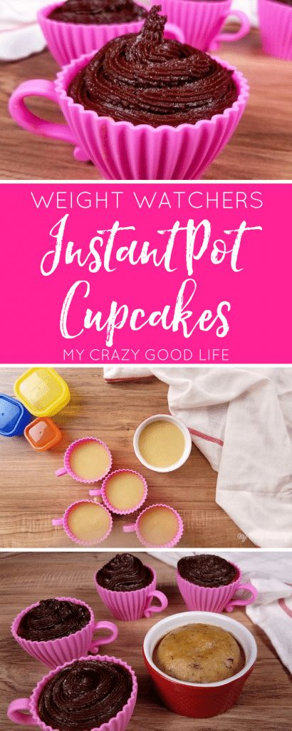 If you are on the Weight Watchers Freestyle SmartPoints system you have to check out this delicious recipe. These WW friendly Instant Pot cupcakes are quick, easy, and delicious. Not to mention they're just 8 SmartPoints per serving. #weightwatchers #freestyle #smartpoints #instantpot #recipes