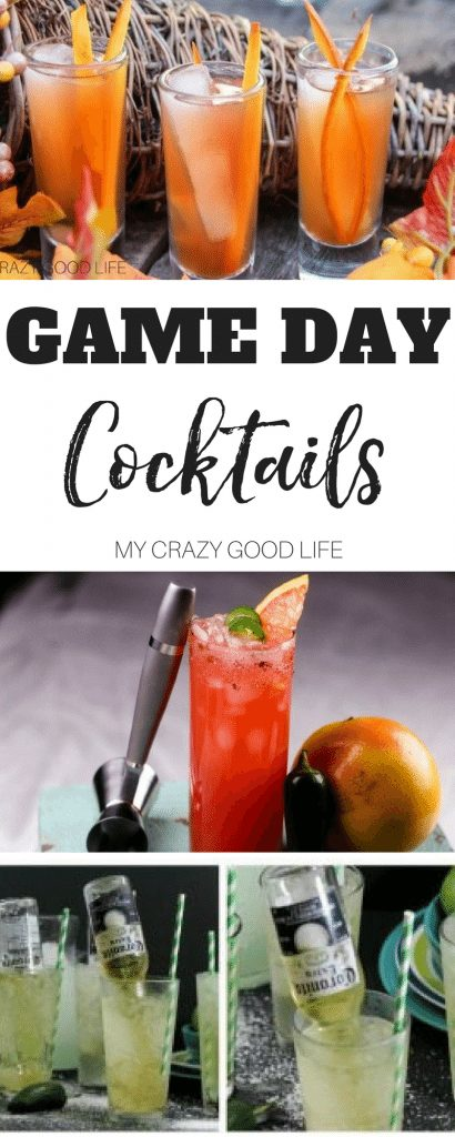 Getting ready for game day can be stressful. We all want to have the perfect menu, watching space, and more. These game day cocktails will help you and your guests enjoy your celebration!  #cocktails #gameday #recipes