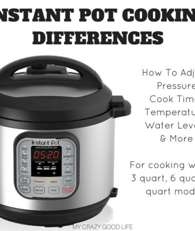 There should be no difference in cook times between a 6 and 8 quart Instant Pot, however users report a few differences. The time to come to pressure, release time, and wattage are some notable differences. You also need to adjust the liquid included in each recipe.