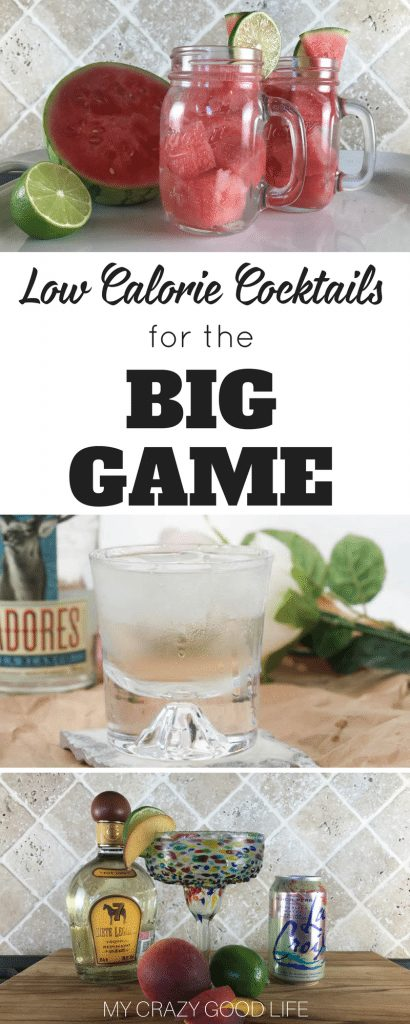 If you are gearing up for the big game you'll likely be needing some cocktail recipes. If you are like me, you will want all of the low calorie cocktails! You can find something for everyone on this, they're low calorie, try them all!#cocktails #recipes #gameday #lowcal
