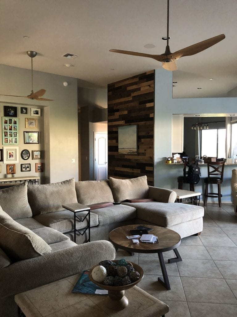 We are loving our energy efficient high tech ceiling from from Haiku Home! Here's our Haiku Fan Review for our Haiku H Series Ceiling Fans.