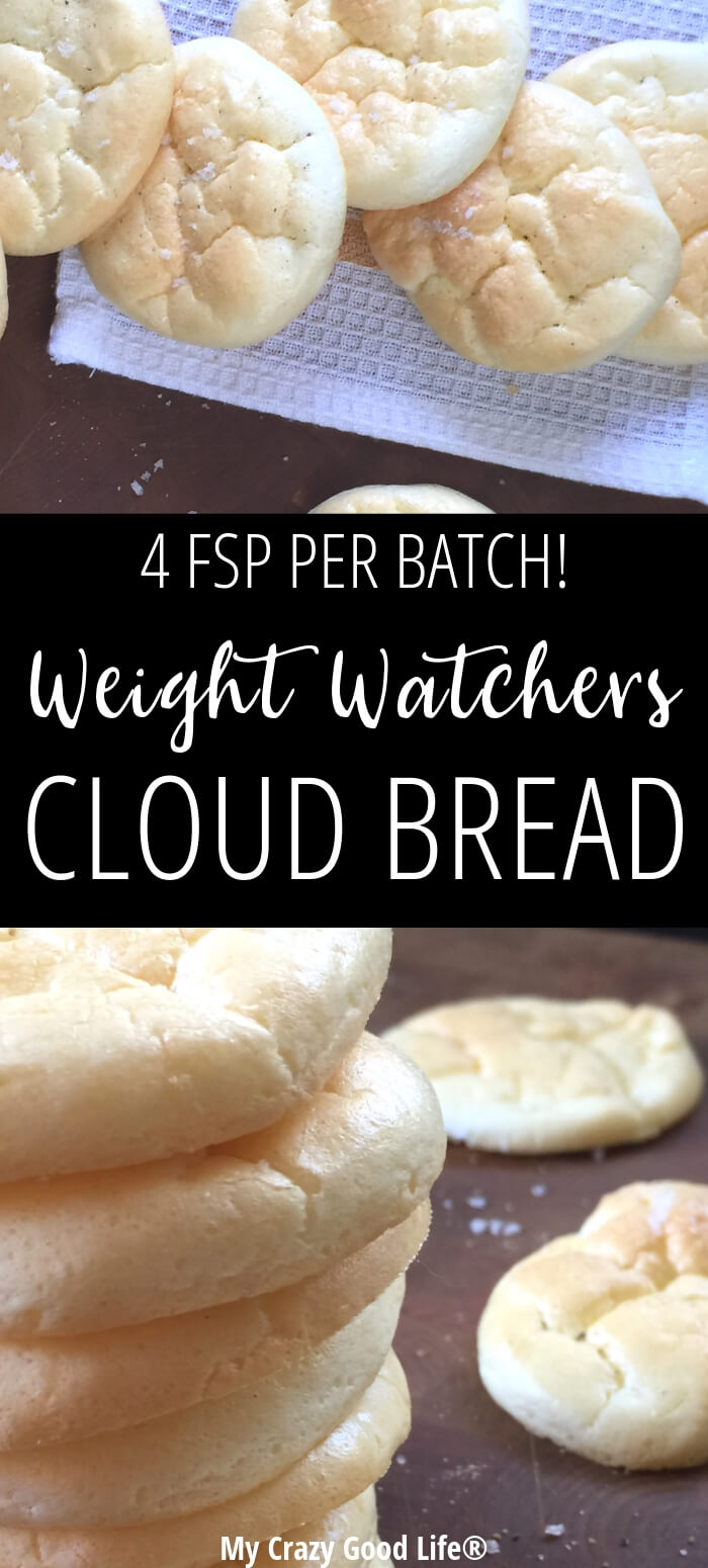 Weight Watchers Cloud Bread is a tasty alternative to traditional bread, crackers, pizza crusts, and more. I love it for sandwiches and snacking–it's low Freestyle SmartPoints and an easy and delicious snack! Low Carb Cloud Bread | Keto Cloud Bread