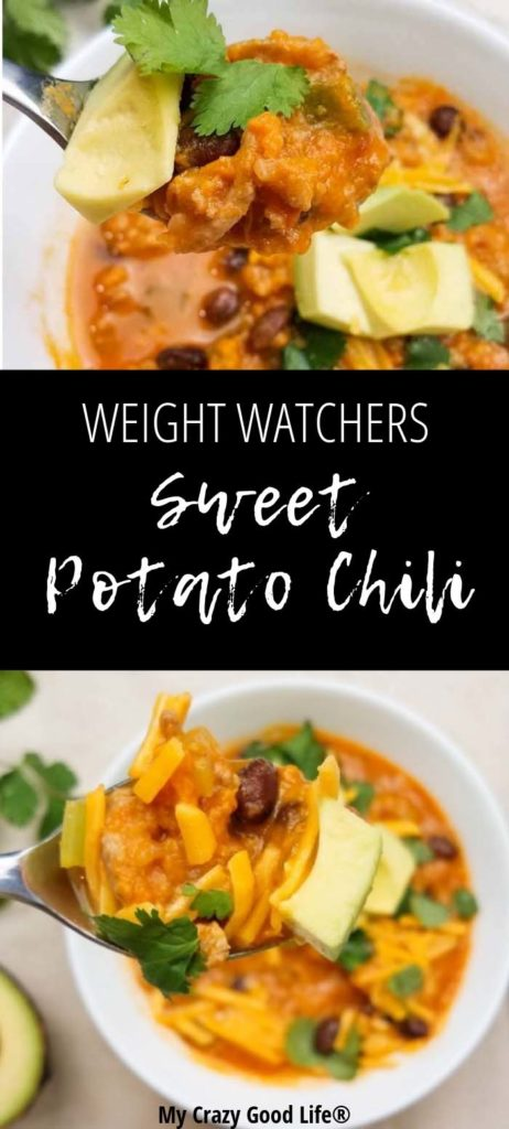 There's nothing better than a hearty bowl of chili. This Weight Watchers sweet potato chili is delicious, easy to make, and super low in points! A healthy sweet potato chili recipe that the whole family will love!