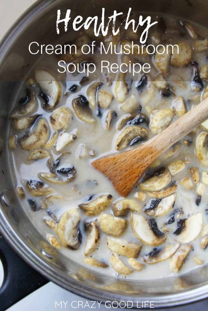 Creamy soups can be very unhealthy! This healthy cream of mushroom soup is going to change all of that! Freeze it for your best casserole recipes.#recipes #healthyrecipes #soup #beachbody #clean