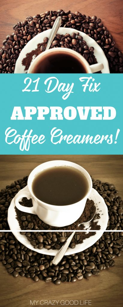 Finding the perfect way to drink your coffee can be tough on the 21 Day Fix. Some people don't like to drink it black, I get that. These are some options for 21 Day Fix Approved Coffee Creamers.