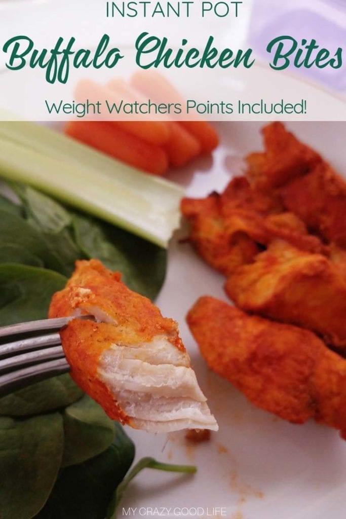 Weight Watchers buffalo chicken wings are a delicious healthy snack! WW Buffalo Chicken bites are so easy to make in the instant Pot, and help you stay within your freestyle points for the day! #weightwatchers #recipes #instantpot #healthydinner #healthysnack