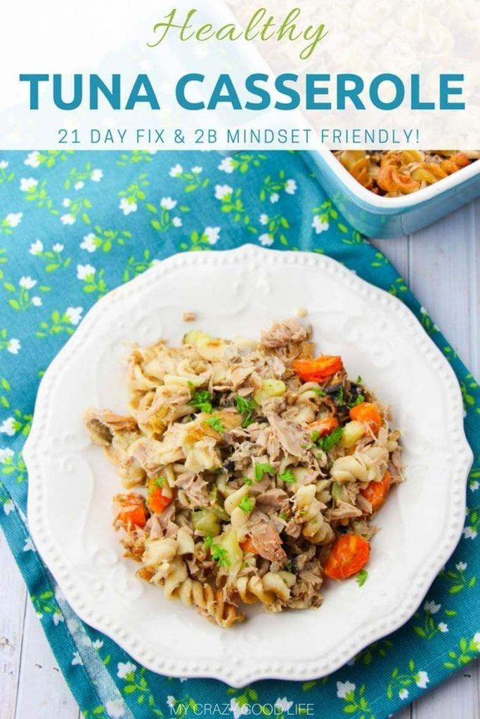 This healthy tuna casserole is the perfect hearty casserole for your family dinner. It's a healthy dinner that the entire family will love! 21 Day Fix Dinner | 2B Mindset Lunch Recipe #21dayfix #healthy #2bmindset