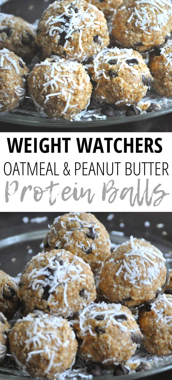 These Weight Watchers Peanut Butter Protein Balls are a healthy Weight Watchers snack idea! Weight Watchers Granola Bites are a filling peanut butter protein ball recipe that is super easy to customize with your favorite add-ins–chocolate chips, raisins, cranberries, flax seed, and more.