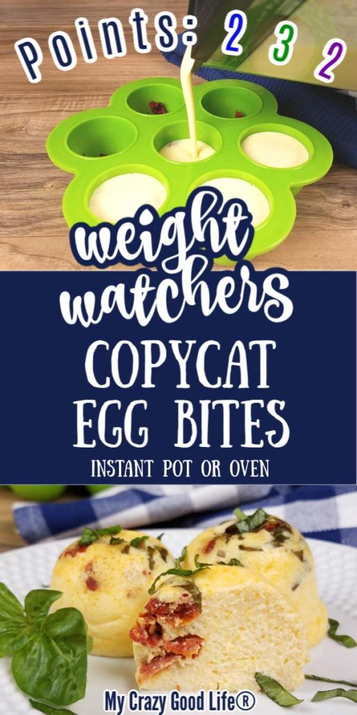 collage with text for ww egg bites