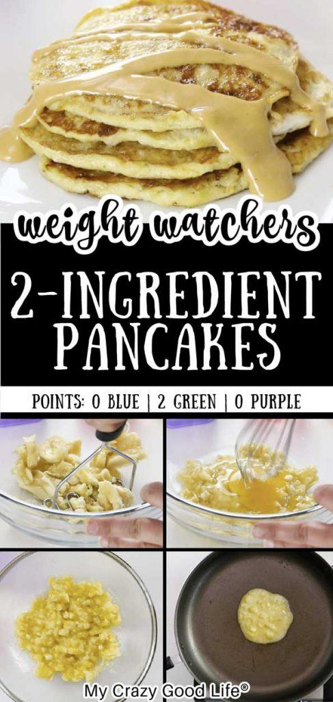 Weight Watchers 2 ingredient pancake pin