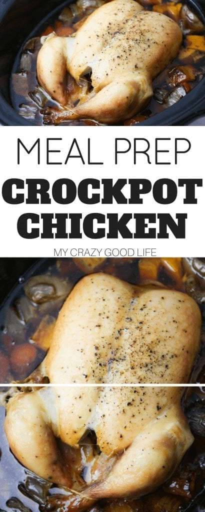 My love for meal prep runs deep. This Crockpot chicken for meal prep is one of the staples in my weekly meal plans. It is perfect for all of my favorite recipes!