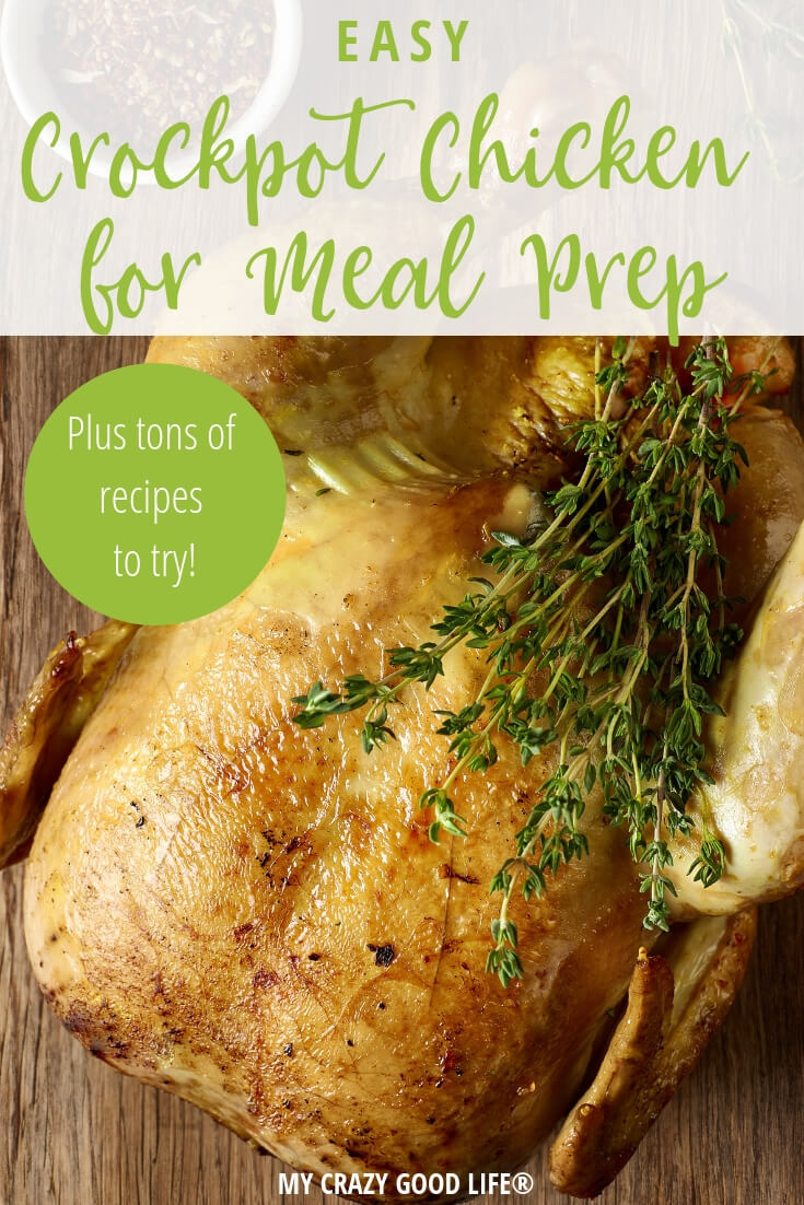 This Crockpot Chicken for meal prep is one of the staples in my weekly meal plans. Whether you're prepping for the Fix, Weight Watchers, or another weight loss plan this is an easy meal prep recipe. #crockpot #slowcooker #21dayfix #mealprep #slowcooker #80DO