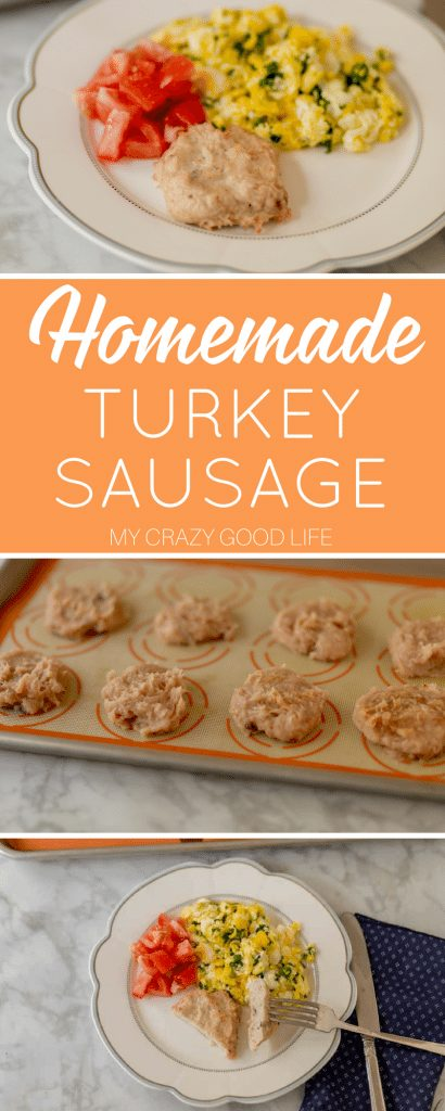 Homemade turkey sausage is a great way to start the day. It is packed with protein and the recipe is quick and simple. If you've never made homemade sausage this is a great place to start! #21dayfix #recipes #breakfast