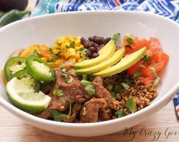 Beef Fajita Bowl Recipe | Instant Pot | Slow Cooker | Stove Top