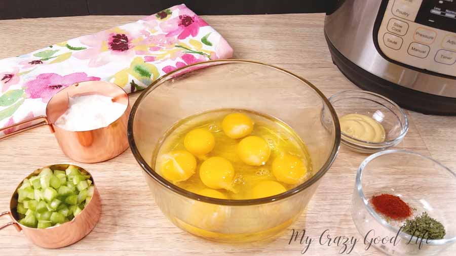 I can never have enough eggs on hand. They are such a great source of protein. I hard boil with the Instant Pot, include them in salads, whip them up for breakfast dishes, and lately I've been using them in this delicious and healthy egg salad recipe.#healthyrecipes #eggsalad #21dayfix #deliciousrecipes #lunchrecipes