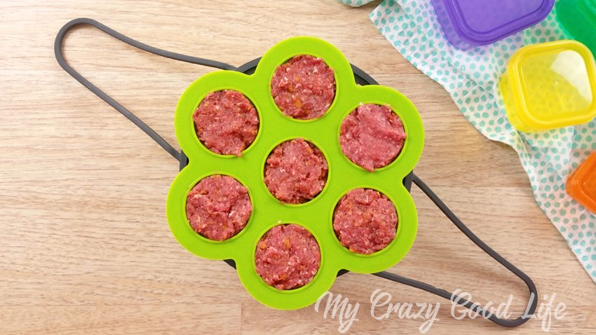 mini meatloaves in silicone egg bite molds