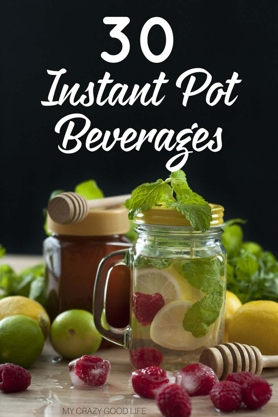 By now I think we all know how wonderful the Instant Pot is, it's a versatile machine that can do almost anything! Did you know that you can make amazing Instant Pot drinks?! There are endless possibilities for Instant Pot beverages that you can make at home. Give some of these tasty pressure cooker drinks a try today! Instant Pot Drink Recipes | Instant Pot Infused Water Recipes #instantpot #drinks #instantpotdrinks #pressurecooker #recipes