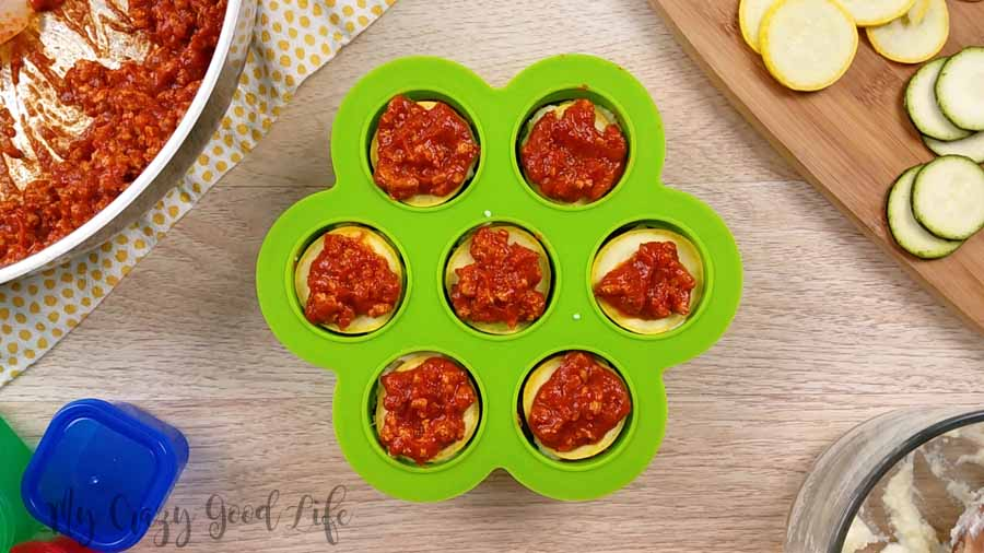Can we talk about how much I love making recipes in my egg bite molds?! The Instant Pot makes life easy, recipes in the egg bite molds take it up another notch. These lasagna stacks are essentially a fun new take on my Instant Pot lasagna. It's an easy lasagna recipe that is perfect for meal prep!