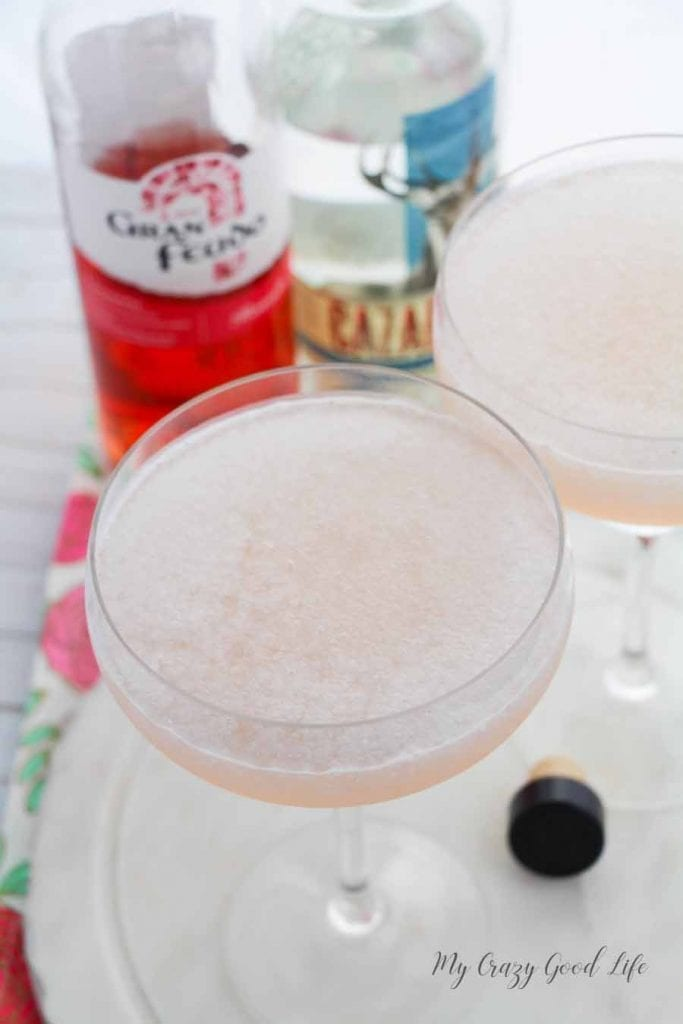 Did you know that National Rosé Day is in June?! We will get to celebrate a holiday that actually has some merit and what better way to celebrate than with one of my favorite things: a wine margarita! Give this Rosé margarita a try, the recipe makes two...but I'm not saying you have to share! #cocktails #rose #wine #drinks #margaritas #summercocktails
