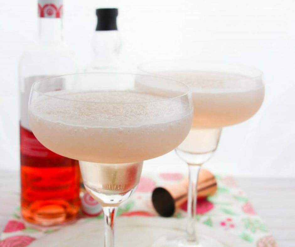 Did you know that National Rosé Day is coming up?! On June 9th we get to celebrate a daily holiday that actually has some merit and what better way to celebrate than with one of my favorite things: a margarita! Give this Rosé margarita a try, the recipe makes two...but I'm not saying you have to share! #cocktails #drinks #margaritas #summercocktails