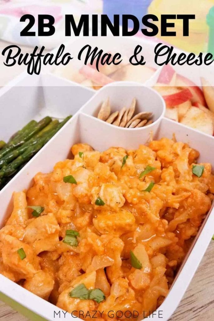 buffalo chicken mac and cheese in a bento box