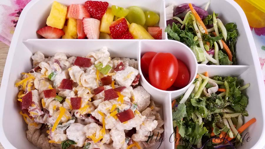 My healthy Crack Chicken Pasta Salad is 21 Day Fix, 2B Mindset, & family approved and can be made in the Instant Pot, slow cooker, or on the stove! Healthier Crack Chicken | Healthy Crack Chicken Pasta Salad #21dayfix #2BMindset #21dfx #Beachbody #Beachbodyrecipes #recipes #healthyrecipes #eatclean #veggiestmost #BBQ #healthysides