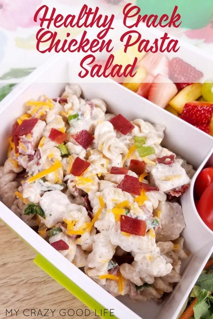 My healthy Crack Chicken Pasta Salad is family approved! Instructions for Instant Pot, slow cooker, or stove! Healthier Crack Chicken | Healthy Crack Chicken Pasta Salad | 2B Mindset Recipes #21dayfix #2BMindset #21dfx #Beachbody #Beachbodyrecipes #recipes #healthyrecipes #veggiesmost #BBQ