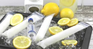 Frozen Vodka Lemonade Pops | Vodka Popsicles