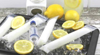 Frozen Vodka Lemonade Pops   Vodka Popsicles