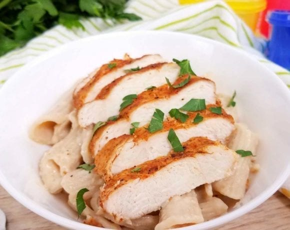 Cajun Chicken Alfredo | Healthy Alfredo Sauce Recipe