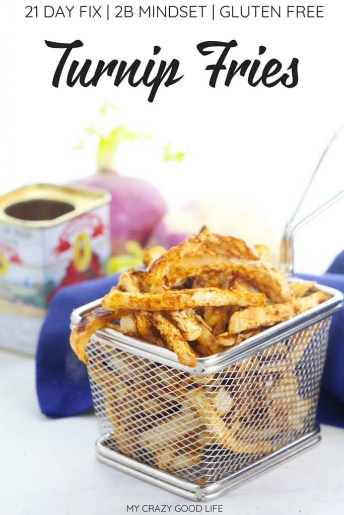 These crispy baked turnip fries have been trending because of 2B Mindset! Veggie fries are popular right now, and these healthy fries are a family favorite! #veggiesmost #2bmindset #21dayfix #turnipfries