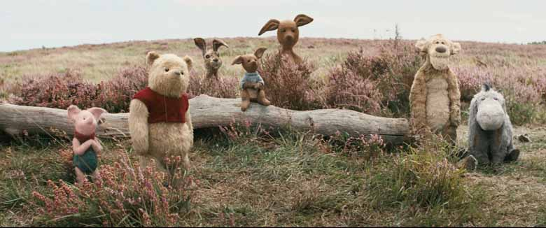 characters of the new live actions Disney movie, Christopher Robin