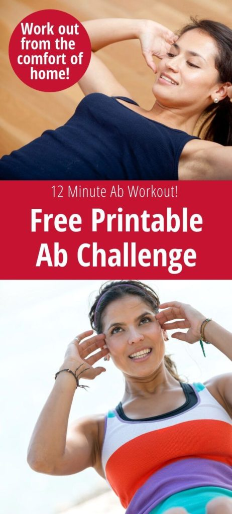 photograph regarding Printable Ab Workout titled 30 Working day Ab Problem 12 Second Ab Exercise routine - My Ridiculous Favourable Daily life