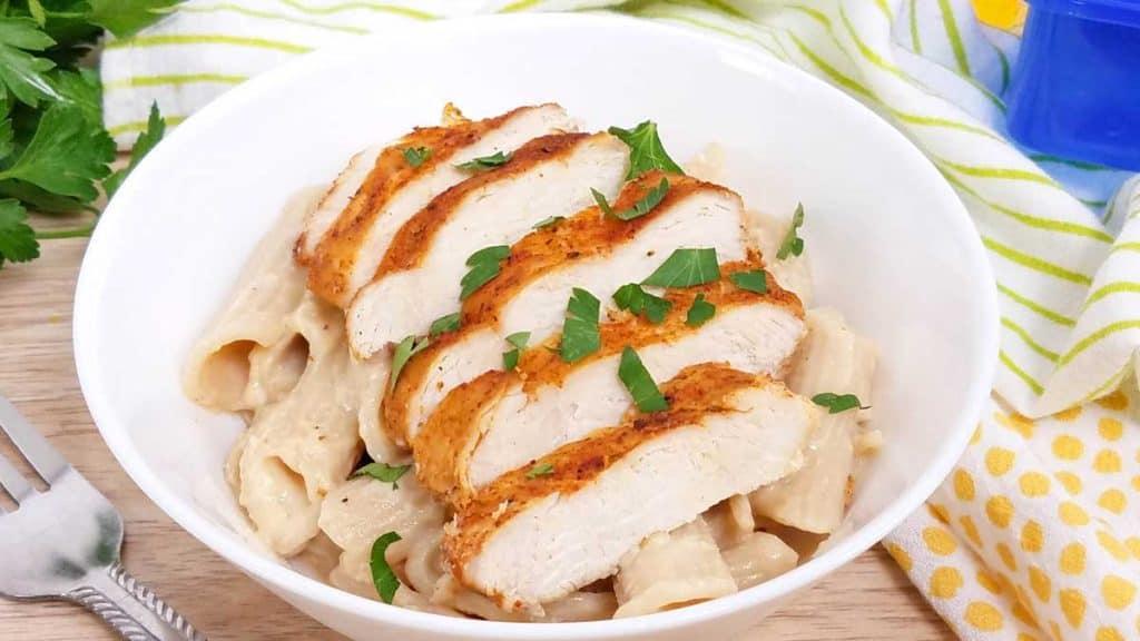 Healthy Cajun Chicken Alfredo