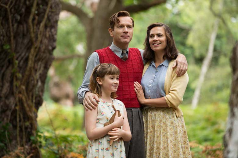 Christopher Robin with his family