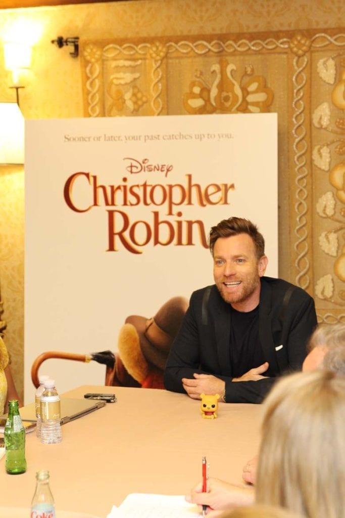 Ewan McGregor being interviewed for his role in Christopher Robin